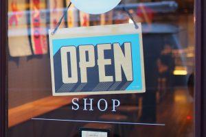 Muestra abierta de la tienda